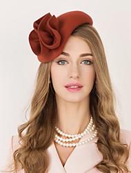 Недорогие -100% шерсть Кентукки дерби шляпа / Головные уборы с Цветы 1шт Повседневные / На каждый день / Скачки Заставка