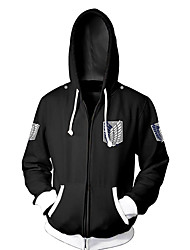 cheap -Inspired by Attack on Titan Eren Jager Cosplay Costume Hoodie Terylene Cartoon Stylish Hoodie For Unisex / Jacket