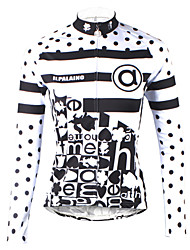 cheap -ILPALADINO Women's Long Sleeve Cycling Jersey Black / White Polka Dot Plus Size Bike Jersey Top Mountain Bike MTB Road Bike Cycling Breathable Quick Dry Ultraviolet Resistant Sports 100% Polyester