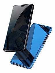 Недорогие -Кейс для Назначение Huawei Mate 10 / Mate 10 pro / Mate 10 lite Зеркальная поверхность / Флип Чехол Однотонный Твердый ПК