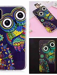 cheap -Case For Apple iPhone XS / iPhone XR / iPhone XS Max Glow in the Dark / Pattern Back Cover Animal / Owl Soft TPU