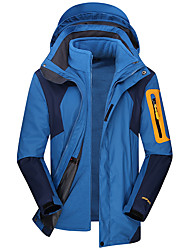 cheap -Men's Hoodie Jacket Hiking Jacket Winter Outdoor Thermal / Warm Windproof Breathable Rain Waterproof Jacket Top Single Slider Camping / Hiking Outdoor Exercise Camping / Hiking / Caving Army Green