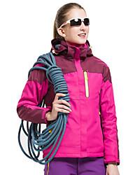 cheap -Men's Hiking Jacket Winter Outdoor Waterproof Windproof Breathable Rain Waterproof 3-in-1 Jacket Single Slider Climbing Camping / Hiking / Caving Snowsports Sky Blue / Purple / Fuchsia / Red / Pink