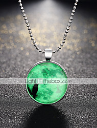 cheap -Women's Pendant Necklace Vintage Style Cat Animal Ladies Vintage Punk Silver Plated Alloy Dark Green 60 cm Necklace Jewelry 1pc For Party Halloween