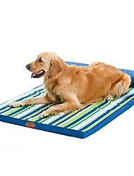 cheap -Dog Pets Bed Sofa Cushion Lounge Sofa Warm Washable Cartoon Pet Mats & Pads Oxford Cloth Stripes Blue