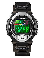 cheap -SKMEI Women's Sport Watch Wrist Watch Digital Casual Alarm Digital Black Purple Blue / One Year / Quilted PU Leather / Calendar / date / day / Chronograph / Stopwatch