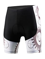 Недорогие -ILPALADINO Муж. Велошорты с подкладкой Лайкра Велоспорт Шорты Шорты с защитой Брюки С защитой от ветра Дышащий 3D-панель Виды спорта Черный / Белый Шоссейные велосипеды Одежда / Быстровысыхающий