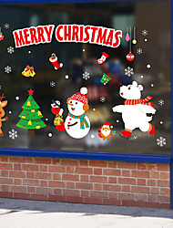 cheap -Christmas Decorations / Holiday Wall Stickers Holiday Wall Stickers Decorative Wall Stickers, PVC Home Decoration Wall Decal Wall / Window Decoration 1pc