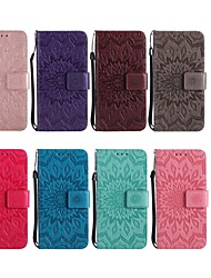 cheap -Case For LG LG Leon / LG C40 H340N / LG G7 ThinQ / LG G6 Wallet / Card Holder / with Stand Full Body Cases Flower Hard PU Leather
