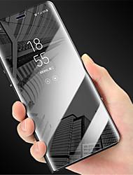 Недорогие -Кейс для Назначение Huawei Huawei P20 / P10 Plus / P10 Зеркальная поверхность / Флип Чехол Однотонный Твердый ПК