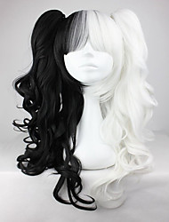 cheap -Synthetic Wig Cosplay Wig Wavy Kardashian Wavy Wig Black / White Synthetic Hair Women's Braided Wig African Braids White hairjoy