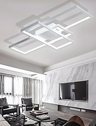 cheap -90cm LED 3-Light Linear Flush Mount Ambient Light Painted Finishes Metal Aluminum Geometric Pattern Warm White Cold White Dimmable With Remote Control