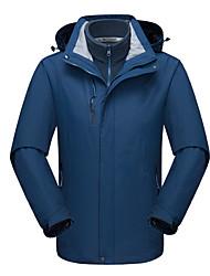 cheap -Men's Hoodie Jacket Hiking Jacket Hiking Fleece Jacket Winter Outdoor Windproof Breathable Rain Waterproof Wear Resistance 3-in-1 Jacket Top Single Slider Camping / Hiking Ski / Snowboard Climbing
