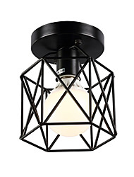 cheap -1-Light 16cm Vintage Mini Painting Metal Cage Flush Mount Ceiling Light Fixture  For Living Room/Bedroom/Dining Room/Kitchen