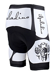 cheap -ILPALADINO Men's Unisex Cycling Padded Shorts Bike Pants / Trousers Pants Windproof Breathable 3D Pad Sports Skull Lycra Winter White / Black Road Bike Cycling Clothing Apparel Relaxed Fit Bike Wear