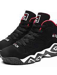 cheap -Men's Comfort Shoes PU Fall Casual Athletic Shoes Basketball Shoes Breathable Black / Black / Red / White
