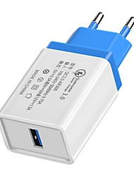 cheap -Home Charger / Portable Charger QC 3.0 Home Charger CB / EU Plug / 3.5