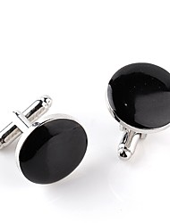 abordables -Boutons de manchettes Grande occasion Mode Broche Bijoux Blanc Noir Pour Mariage Soirée