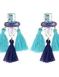 cheap -Women's Drop Earrings Tassel Drop Ladies European Ethnic Fashion Earrings Jewelry Gray / Coffee / Blue For Party 1 Pair