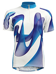 abordables -Jaggad Homme Manches Courtes Maillot Velo Cyclisme Jaune Bleu Cyclisme Maillot VTT Vélo tout terrain Vélo Route Respirable Des sports Nylon Élastique Vêtement Tenue / Elastique