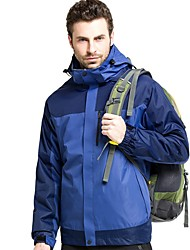 cheap -Men's Hiking 3-in-1 Jackets Outdoor Thermal / Warm Windproof Breathable Rain Waterproof Jacket Fleece Waterproof Camping / Hiking Hunting Ski / Snowboard Army Green / Royal Blue / Red