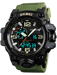 cheap -SKMEI Men's Sport Watch Military Watch Digital Watch Japanese Quartz Quilted PU Leather Black / Green / Grey 50 m Alarm Calendar / date / day Chronograph Analog - Digital Fashion Colorful - Green