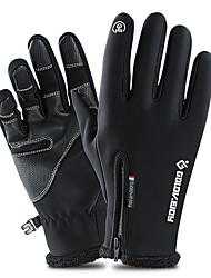 Недорогие -Лыжные перчатки Перчатки для сенсорного экрана Муж. Жен. Снежные виды спорта Полный палец Зима Водонепроницаемость С защитой от ветра Сохраняет тепло Кожа PU Полиэфир / полиамид