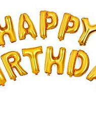 Недорогие -Воздушные шары Буквы Творчество День рождения Декорации для вечеринок 1 комплект