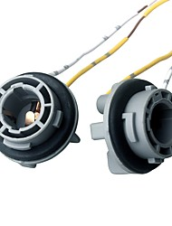cheap -ZIQIAO 2pcs LED 1156 BAU15S Bulb Socket Car Lamp Light Socket Extension Connector Plug Holder - Color Random