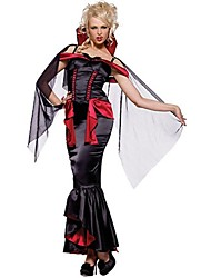 cheap -Vampire Uniforms Dress Cosplay Costume Party Costume Masquerade Costume Adults' Highschool Women's Cosplay Halloween Christmas Halloween Carnival Festival / Holiday Tulle Spandex Black Female