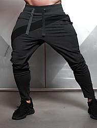 cheap -Men's Jogger Pants Joggers Running Pants Track Pants Sports Pants Drawstring Sports Winter Pants / Trousers Sweatpants Bottoms Fitness Gym Workout Anatomic Design Wearable Color Block Black Grey