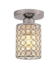 cheap -18 cm Semi Flush Mount Mini Ceiling Light Modern LED K9 Crystal Chrome 1-Light Dining Room Bedroom Ceiling Lamp E26/E27 Bulb Base