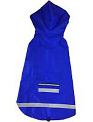 cheap -Dog Cat Rain Coat Solid Colored Waterproof Windproof Outdoor Dog Clothes Yellow Red Blue Costume Terylene XXXL XXXXL XXXXXL