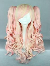 cheap -pink mixed wig pretty lolita wig gothic lolita pink wig ponytails princess cosplay long wavy wig