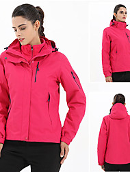 cheap -Women's Hiking 3-in-1 Jackets Hiking Windbreaker Winter Outdoor Thermal / Warm Waterproof Windproof Rain Waterproof Winter Jacket Full Length Hidden Zipper Ski / Snowboard Climbing Camping / Hiking