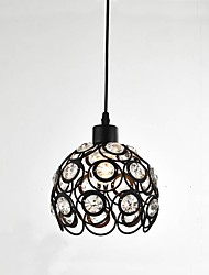 cheap -1-Light CXYlight 18 cm Crystal / Mini Style Pendant Light Metal Bowl Painted Finishes Retro Vintage / Country 110-120V / 220-240V