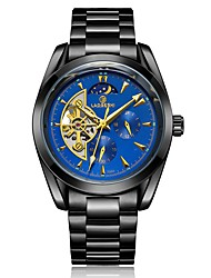 cheap -Men's Dress Watch Mechanical Watch Quartz Stainless Steel Black / Silver / Gold 100 m Water Resistant / Waterproof Calendar / date / day Hollow Engraving Analog Luxury Classic Fashion - Black / Gold