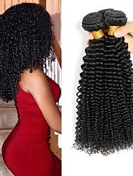 cheap -3 Bundles Vietnamese Hair Kinky Curly Human Hair Unprocessed Human Hair Natural Color Hair Weaves / Hair Bulk Hair Care Bundle Hair 8-28 inch Natural Color Human Hair Weaves Silky Classic Thick Human
