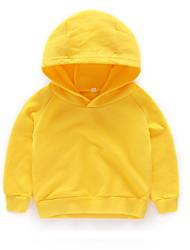 abordables -Enfants Garçon Basique Couleur Pleine Manches Longues Coton Pull à capuche & Sweatshirt Vert