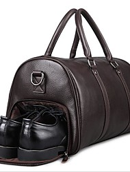 Недорогие -Воловья кожа Молнии Дорожная сумка на открытом воздухе Черный / Коричневый / Муж.
