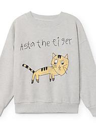 abordables -Enfants Bébé Garçon Basique Imprimé Manches Longues Coton Pull à capuche & Sweatshirt Rose Claire