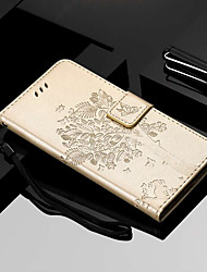 cheap -Case For Motorola MOTO G6 / Moto G6 Plus / Moto E5 Plus Wallet / Card Holder / with Stand Full Body Cases Tree Hard PU Leather