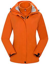 cheap -Women's Hiking Jacket Winter Outdoor Waterproof Windproof Breathable Rain Waterproof 3-in-1 Jacket Single Slider Camping / Hiking Ski / Snowboard Camping / Hiking / Caving Black / Sky Blue / Fuchsia