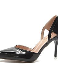 cheap -Women's Heels Pumps Stiletto Heel Pointed Toe Patent Leather / PU Fall Black / Yellow / Khaki / Daily