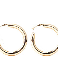 cheap -Women's Hoop Earrings Classic Machete Circle Ladies Simple European Fashion Earrings Jewelry Gold / Silver For Daily Street 1 Pair
