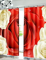 cheap -Modern 3D Curtains Two Panels Curtain / Blackout / Bedroom