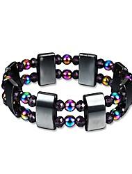 cheap -Men's Obsidian Bead Bracelet Hologram Bracelet Beads Magnetic Creative Trendy Fashion energy Cord Bracelet Jewelry Rainbow For Gift Daily