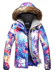 cheap -GSOU SNOW Women's Ski Jacket Ski / Snowboard Winter Sports Ski Skiing Winter Sports POLY Top Ski Wear / Camo / Camouflage