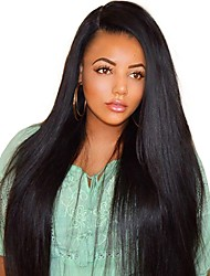 cheap -Human Hair Full Lace Wig style Brazilian Hair Burmese Hair Straight Natural Natural Black Wig 130% Density with Baby Hair Women Easy dressing Best Quality Hot Sale Women's Long Human Hair Lace Wig