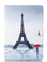 cheap -Case For Apple iPad Mini 5 / iPad New Air(2019) / iPad Air Card Holder / with Stand / Flip Full Body Cases Scenery / Eiffel Tower Hard PU Leather / iPad Pro 10.5 / iPad (2017)